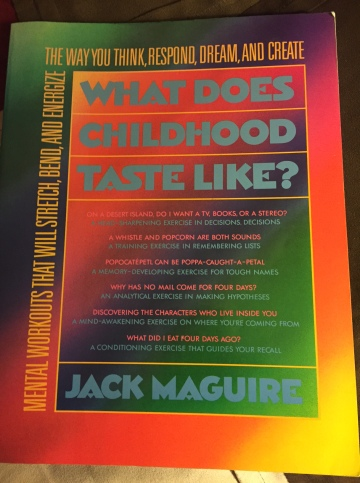 Original book cover for What Does Childhood Taste Like? by Jack Maguire