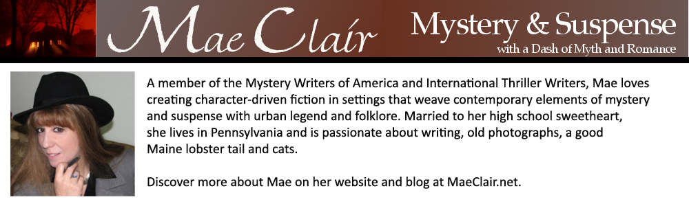 Bio banner for author Mae Clair