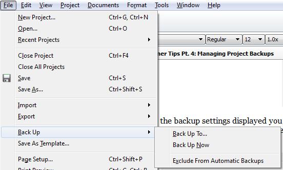 Scrivener Backups & Snapshots Strategies Pt. 1