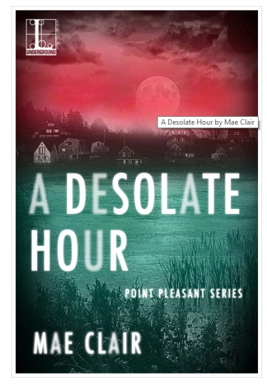 Book cover of a Desolate Hour by Mae Clair with image title pop-up displayed