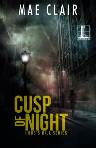 Book cover for Cusp of Night, a mystery/suspense novel by author, Mae Clair