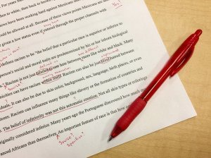 Paper, pen, edits