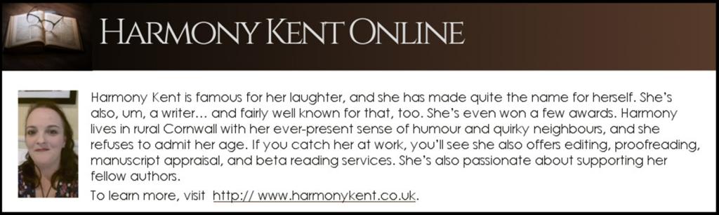 Bio Box for Harmony Kent that links to her website www.harmonykent.co.uk