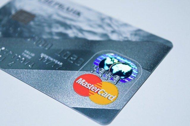 shot of a MasterCard credit card